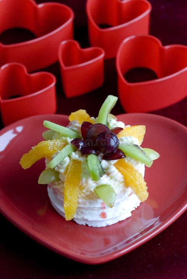 Fruit Pavlova royalty free stock image