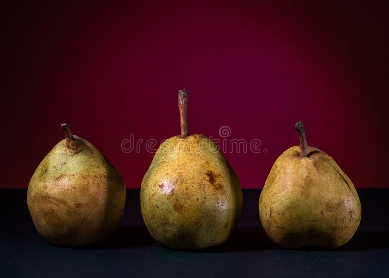 fruit, peren, drie peren, voedsel, stock afbeeldingen