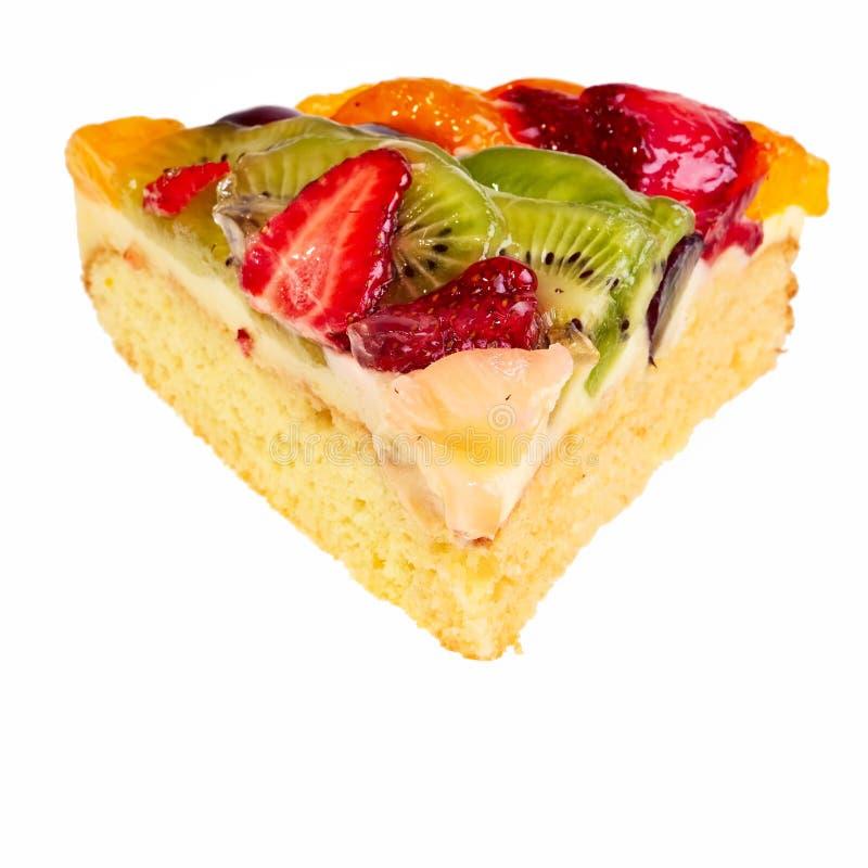 Fruit pie segment. Fruit pie segment isolated over white background stock image