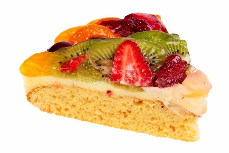 Fruit pie segment. Fruit pie segment isolated over white background stock photography