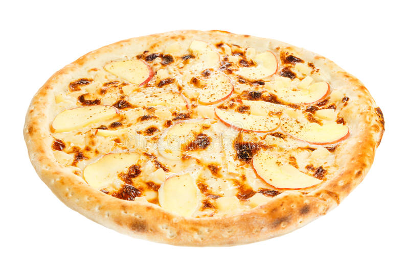 Fruit pizza with pineapple stock photos