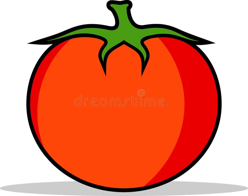 Fruit of plantaardige vectortomaten royalty-vrije stock afbeelding
