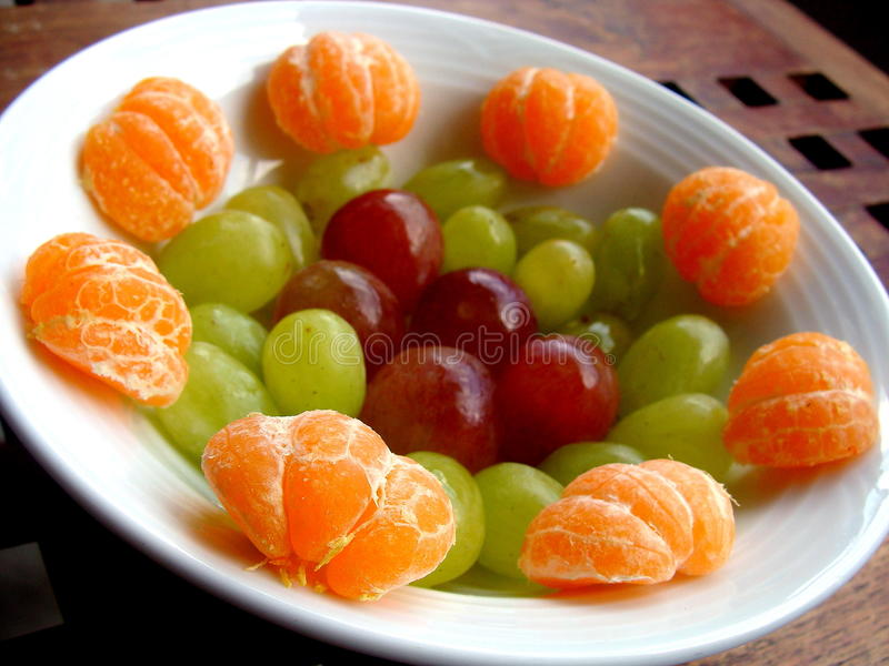Fruit Plate stock image