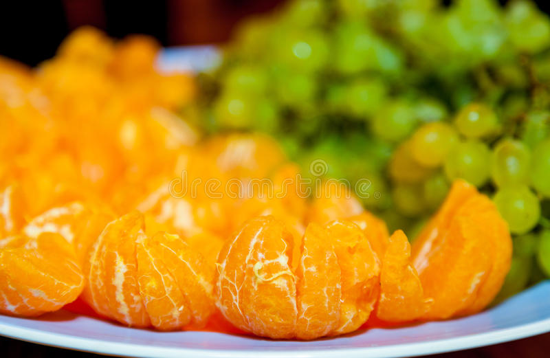 Fruit on a plate royalty free stock image