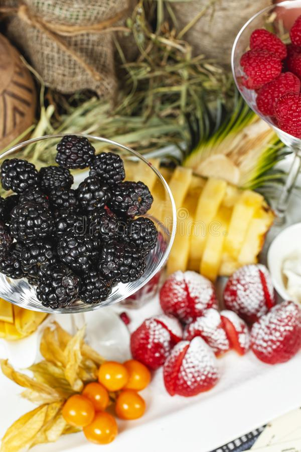 Fruit plate in Georgian style. royalty free stock images
