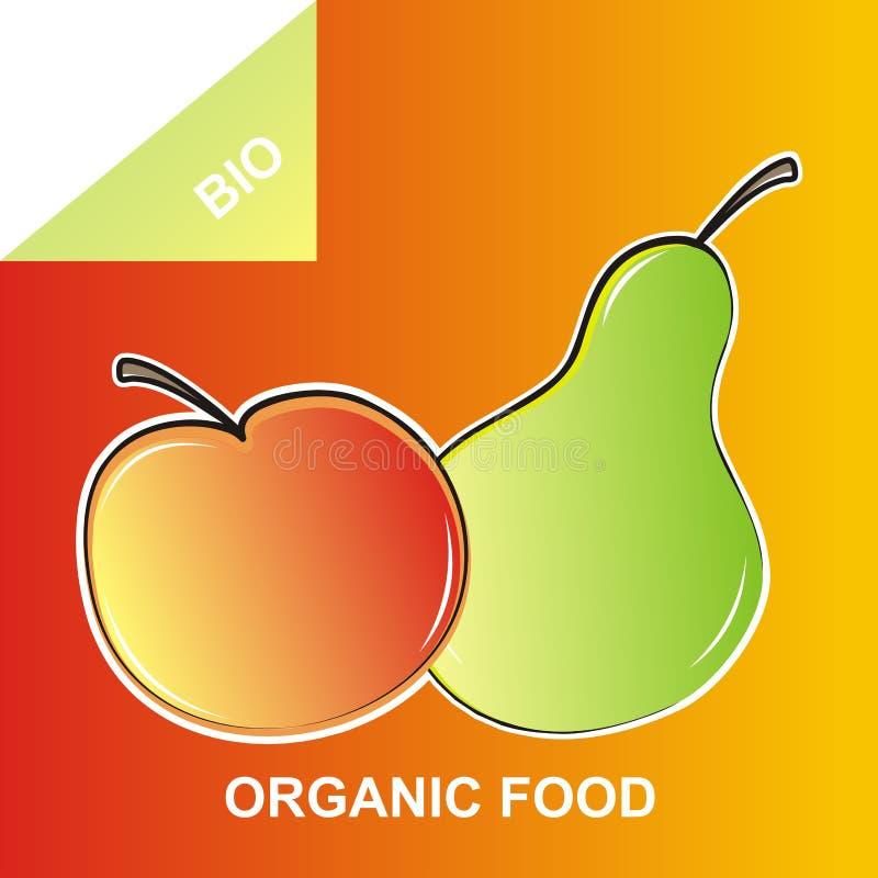 Fruit, pomme et poire organiques, aliment biologique illustration de vecteur