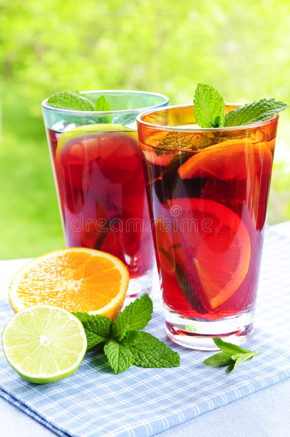 Download Fruit punch in glasses stock image. Image of juices, juice - 9744641