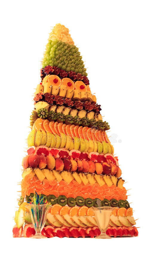 Fruit pyramid stock images