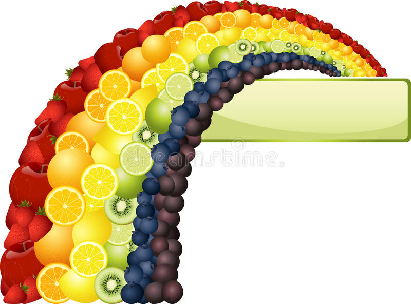 Download Fruit Rainbow stock vector. Illustration of colorful - 25396212