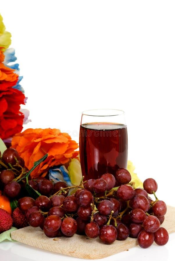 Fruit, red grape juice
