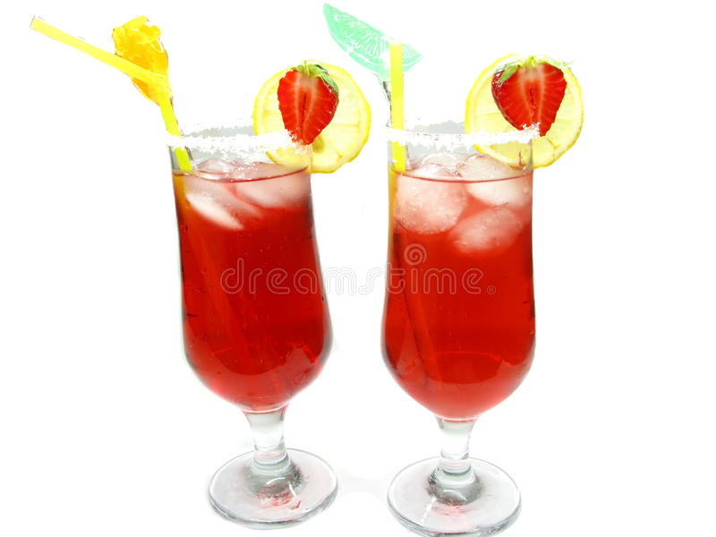 Download Fruit Red Punch Cocktail Drinks With Strawberry Stock Image - Image: 23484039