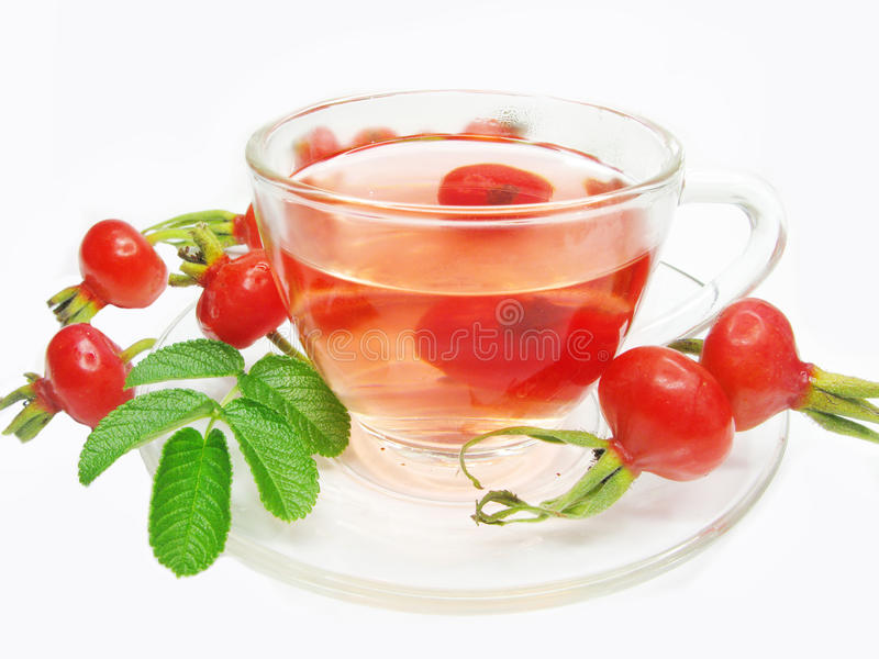 Download Fruit Red Tea With Wild Rose Berries Hip Stock Photo - Image: 15806440