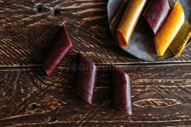 Fruit rolls stock image