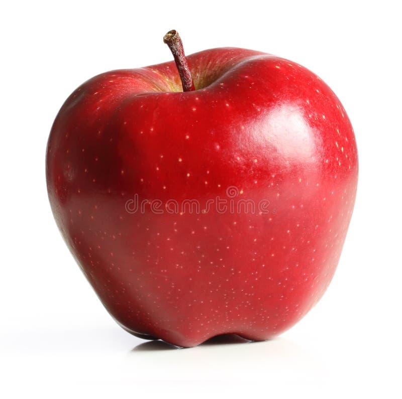 Fruit rouge d'Apple avec la lame photos stock