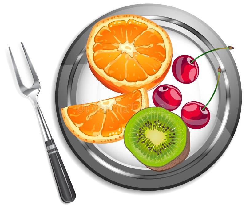 Fruit salad royalty free illustration