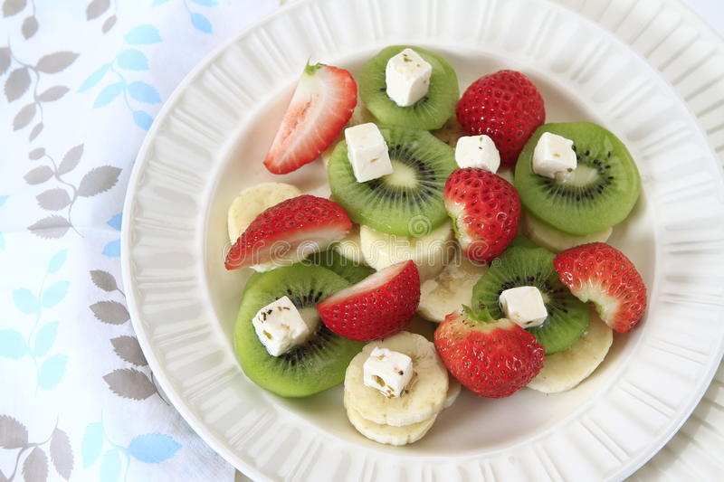 Download Fruit Salad stock image. Image of strawberry, cheese - 19939883