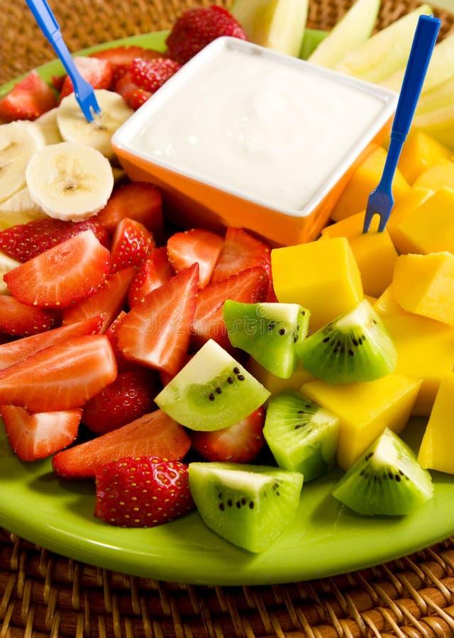 Fruit salad stock image