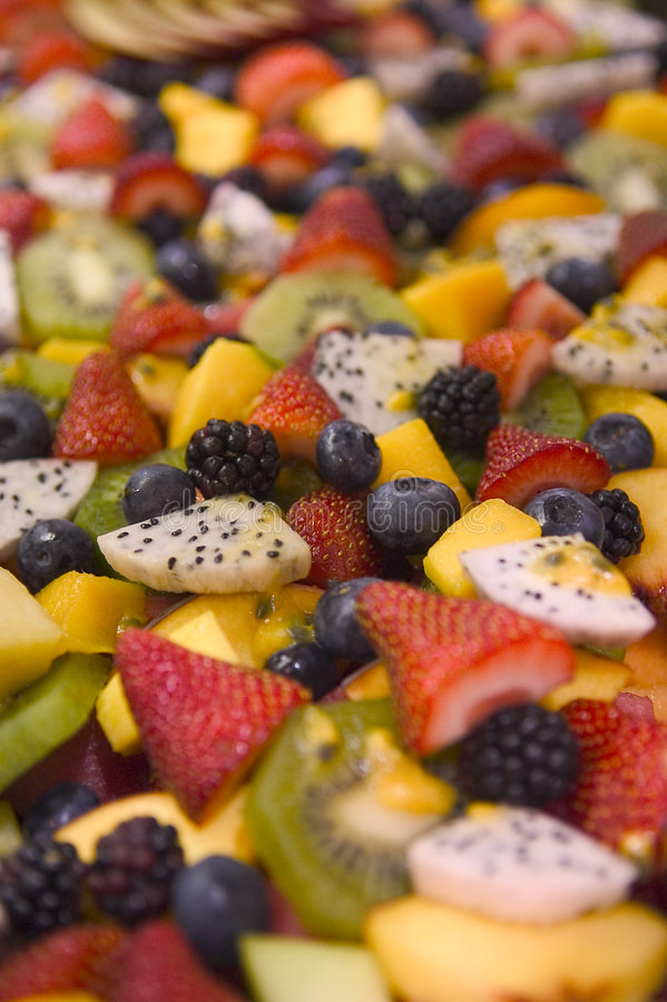Fruit Salad. Closeup of Fruit Salad. Looks very healthy and colourfull royalty free stock photo