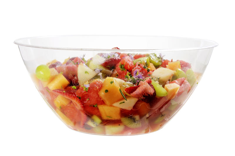 Fruit Salad in Bowl royalty free stock photo