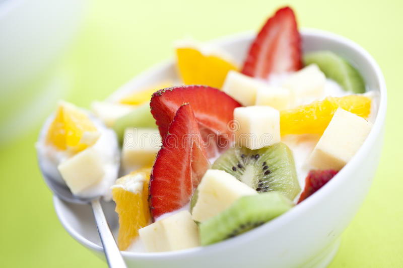 Fruit Salad With Chunks Of Fruit And Yogurt Royalty Free Stock Photography