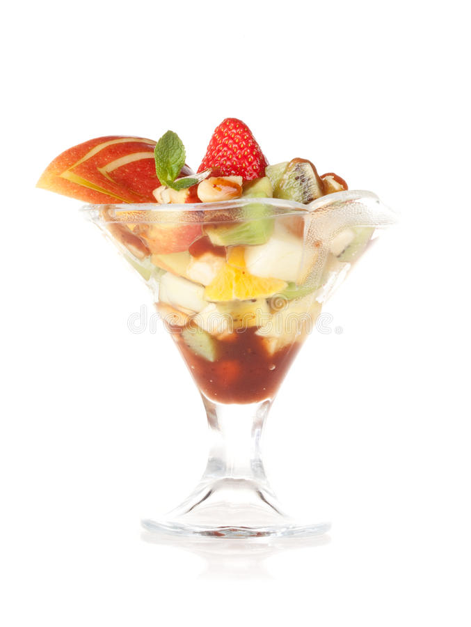 Fruit salad dessert royalty free stock image