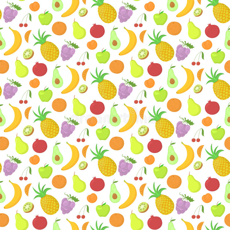 Download Fruit Seamless Pattern, Vector Background With Stock Vector    Illustration Of Grape, Abundance