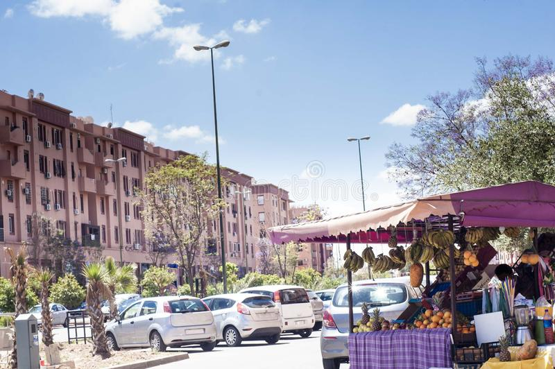 Fruit Seller in Marrakesh stock images