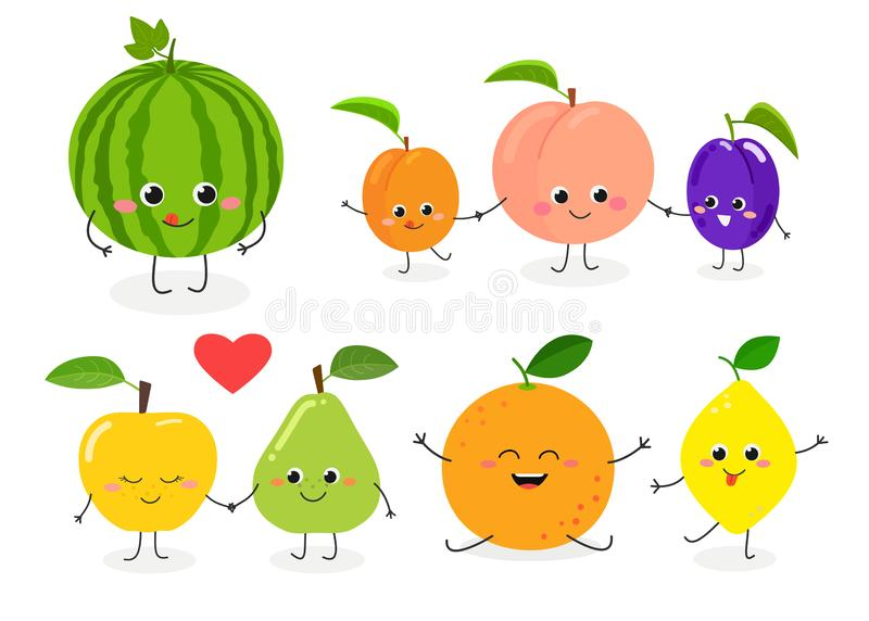 Fruit set N1 stock illustration