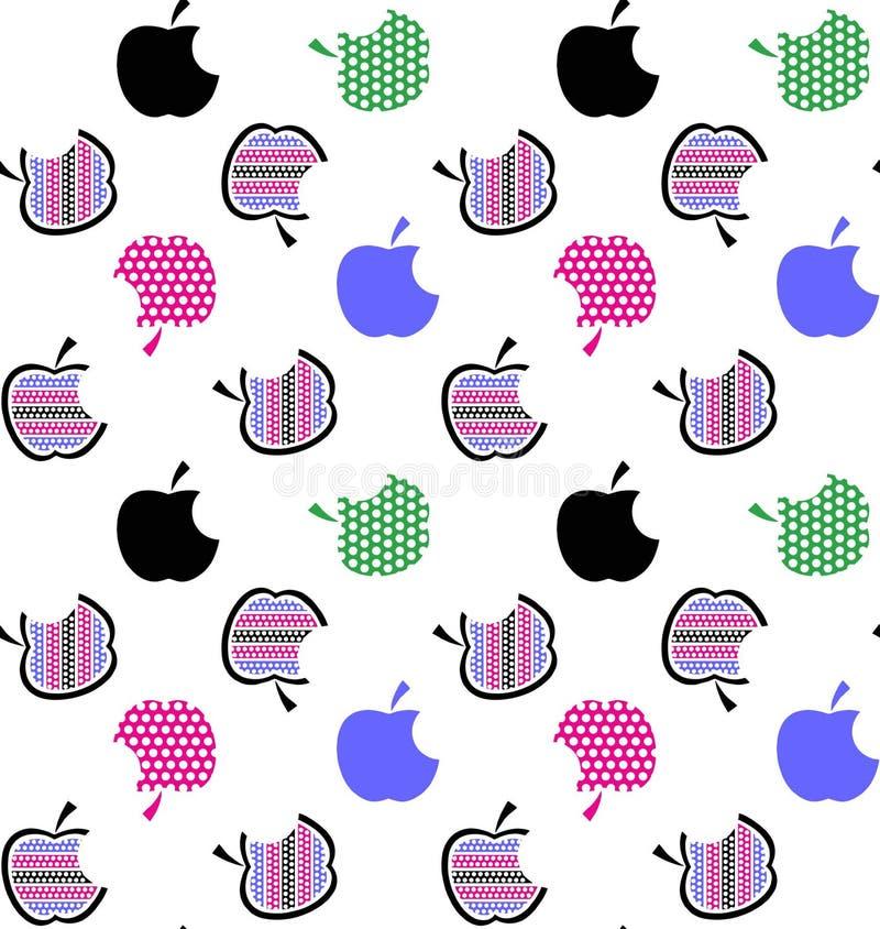 Fruit set pattern , nature fruit background. Fruit set pattern nature fruit background royalty free illustration
