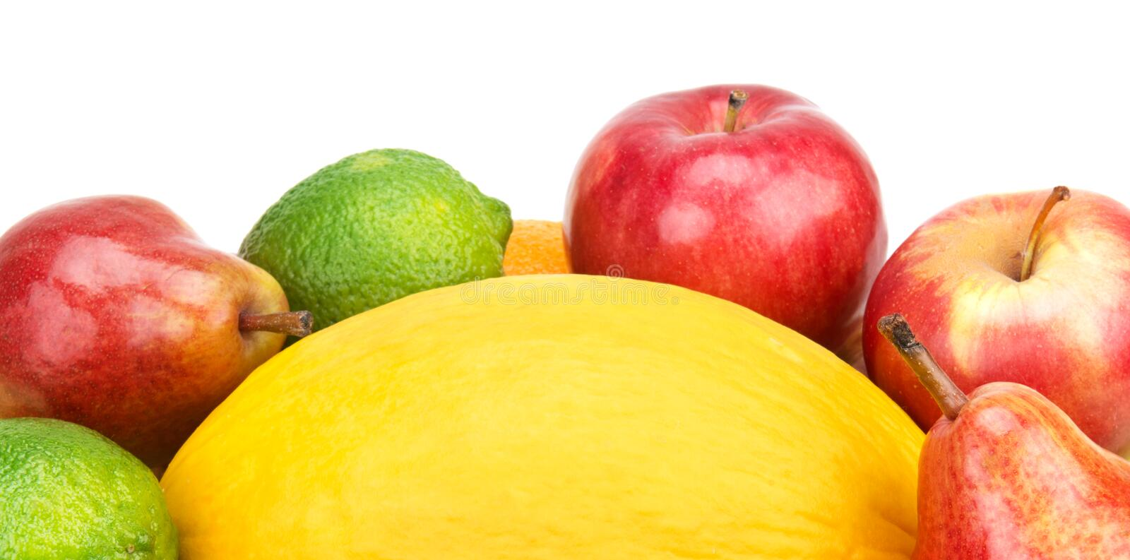 Fruit set. On a white background stock images