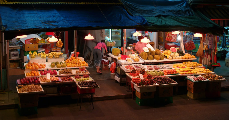 Fruit shop royalty free stock photography