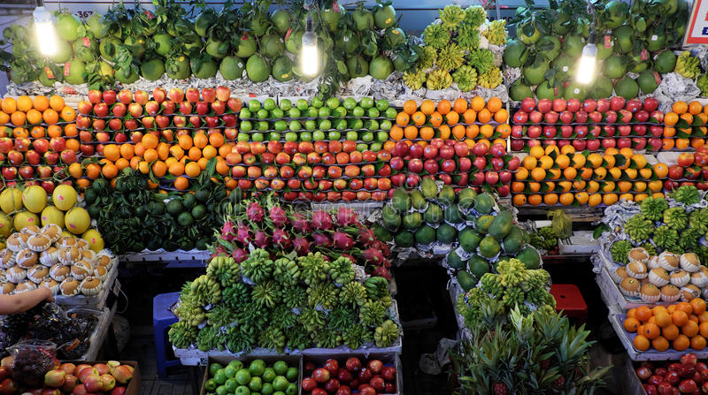 Fruit shop, agriculture product at farmer marke stock images