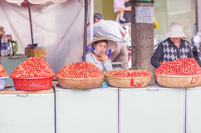 Fruit shop in market royalty free stock images