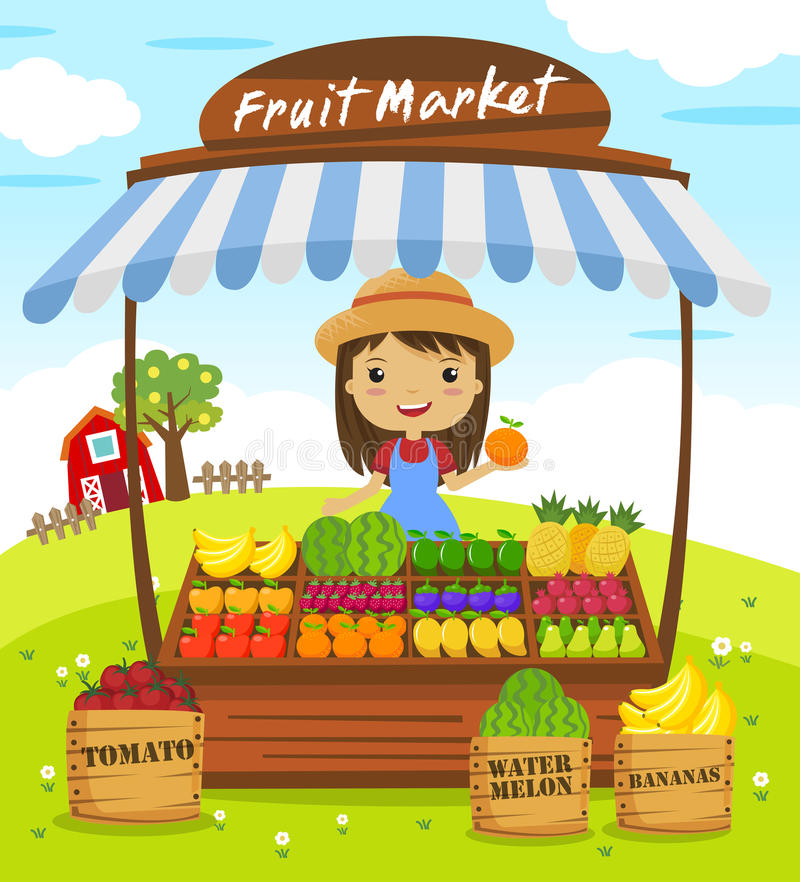 Free Fruit Shop Stall Royalty Free Stock Photo - 61160225