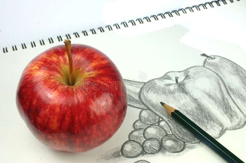 Notebook And Pen Sketch Stock Vector Art More Images Of: Fruit Sketch Royalty Free Stock Image
