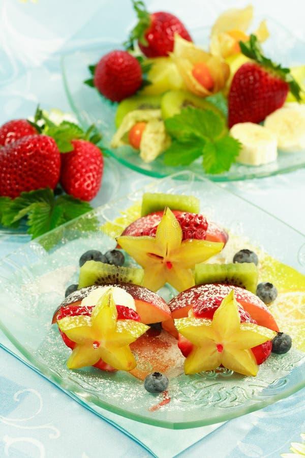 Fruit skewer royalty free stock photo