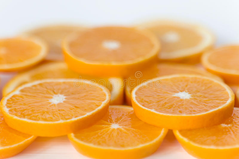 Fruit Slices for the Background. Orange royalty free stock photo