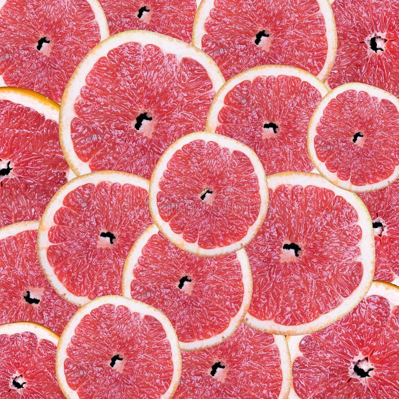 Fruit slices on a black background stock photo