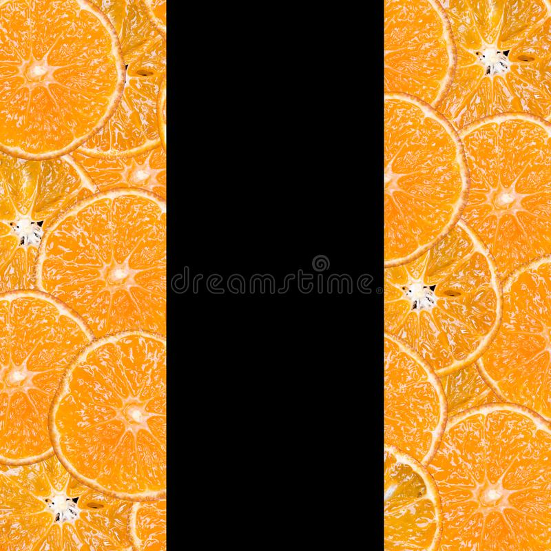 Fruit slices on a black background royalty free stock photo
