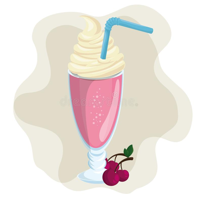 Fruit smoothie pictogram vector illustratie