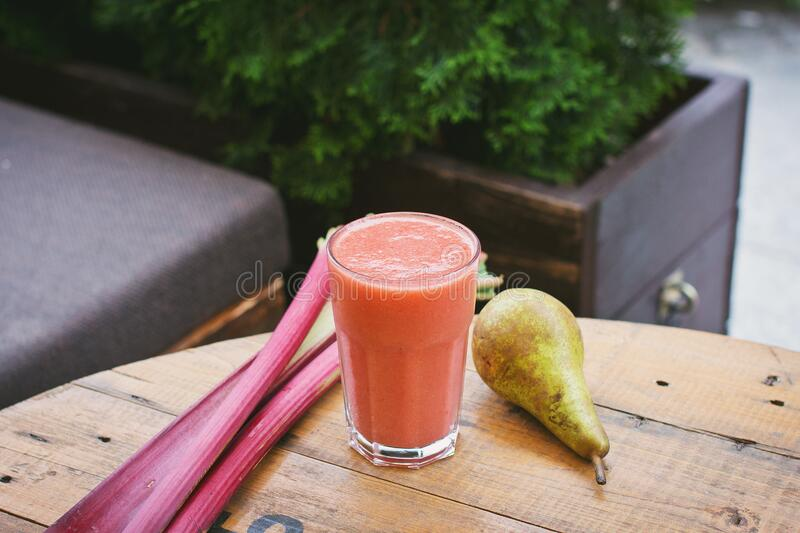 Fruit smoothie stock photo