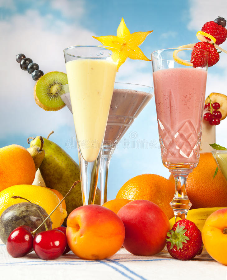 Fruit smoothies royalty-vrije stock afbeelding