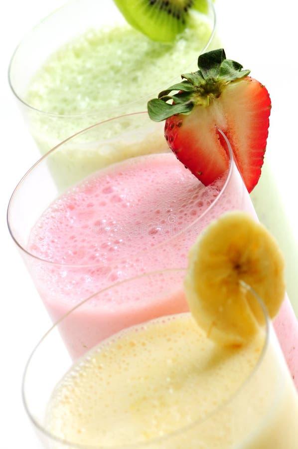 Fruit smoothies royalty free stock photos