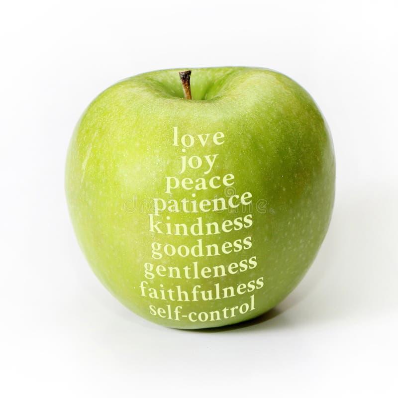 Fruit of the Spirit. Apple representing the fruit of the Spirit stock photos