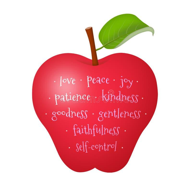 Fruit of the Spirit. Apple representing the fruit of the Holy Spirit royalty free illustration