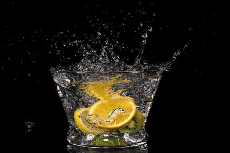 Download Fruit splashing in water stock photo. Image of detail - 33186286