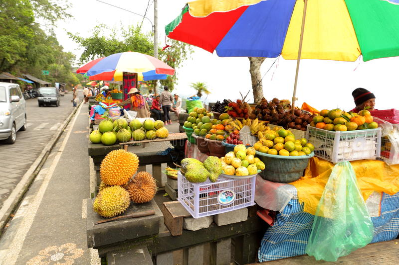 Fruit stall in Bali royalty free stock photos