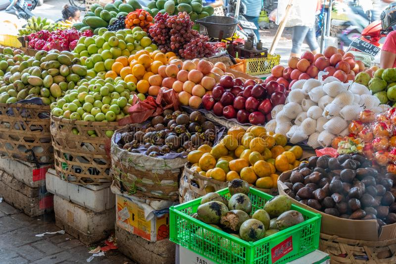 Fruit Stall in Bali Market stock photography