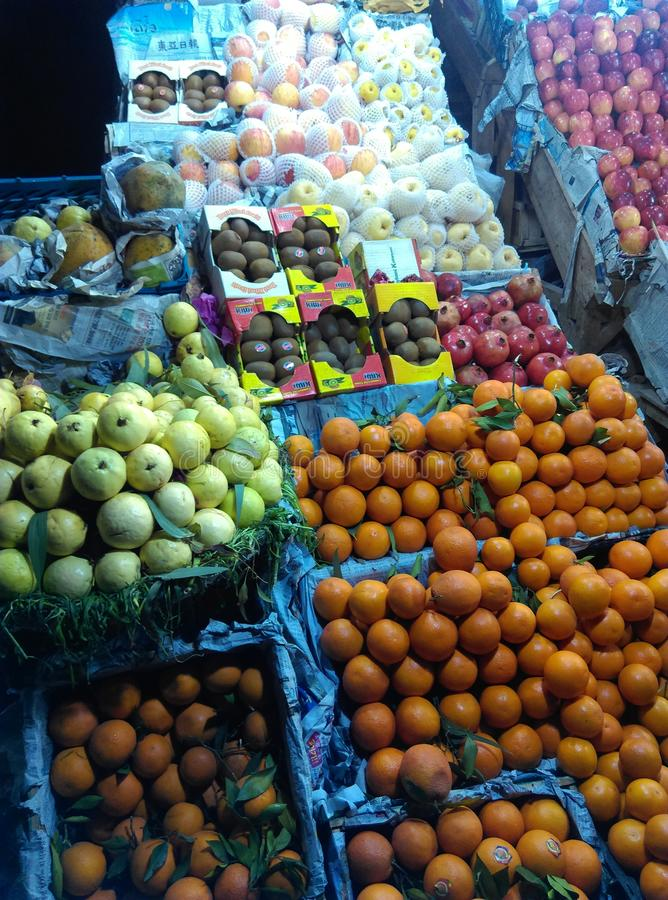 A friuit stall in Peshawar royalty free stock photo