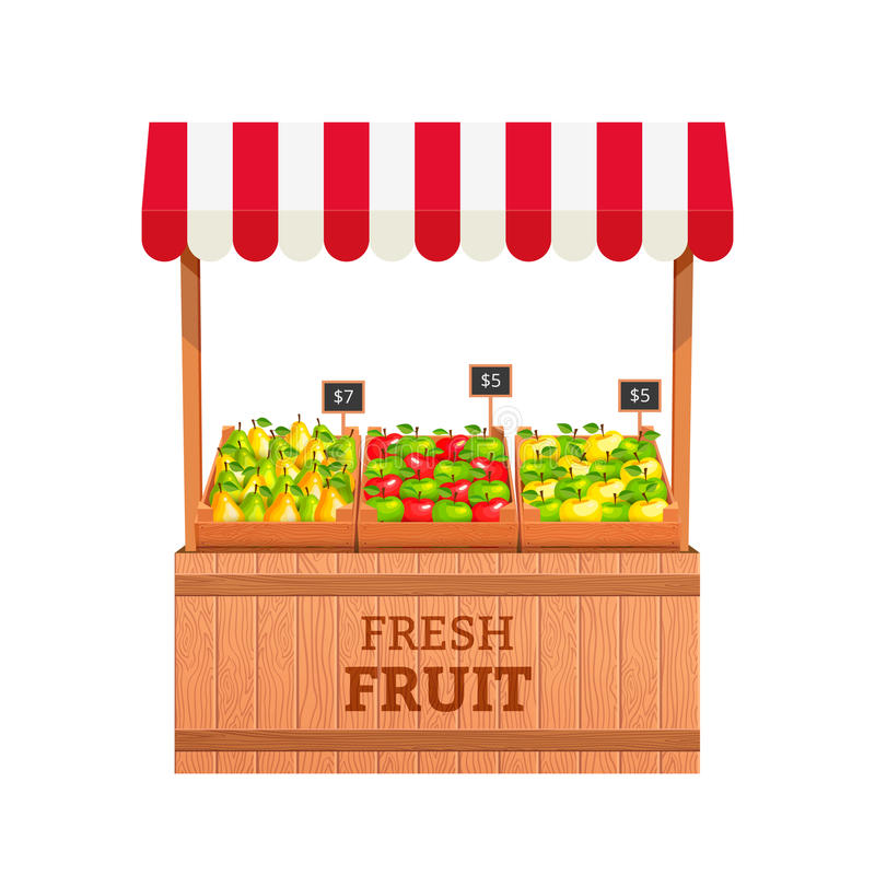 Fruit stand stock illustration